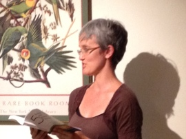 Christina read at WWW's Open Mic Night in August 2012.